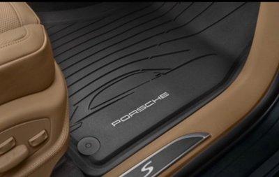 《保時捷車主精品》原廠最新2020年Macan  (各年份亦適合)橡膠集塵腳踏墊