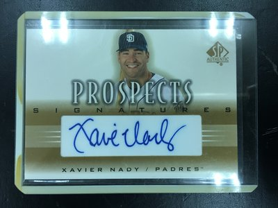 2002 Upper Deck SP Authentic Prospects Xavier Nady 簽名卡