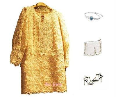 安潔菈~韓版超熱賣公主風蕾絲造型長板百搭款上衣