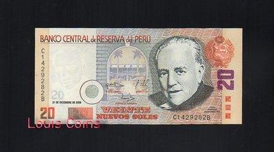【Louis Coins】B125-PERU--2006祕魯紙幣20 Nuevos Soles