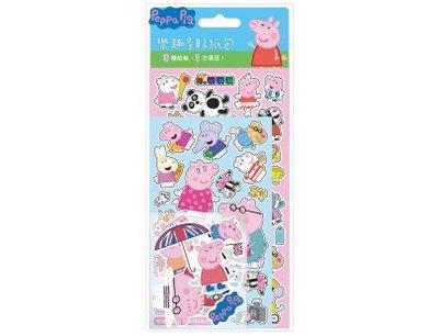 Peppa pig正版授權佩佩豬樂趣多貼紙包貼紙3入裝