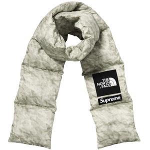 【美國鞋校】預購 Supreme FW19 The North Face Paper Print 羽絨 圍巾
