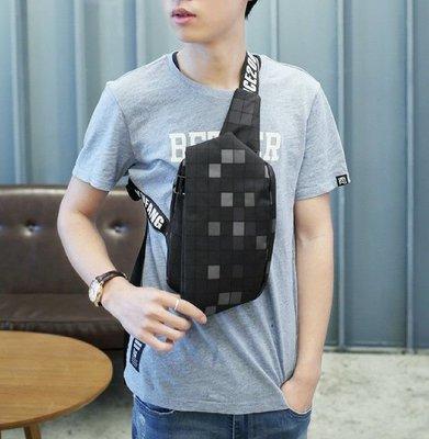 琳達購物中心-韓國東大門代購-時尚簡約百搭男士胸背單肩手提休閒運動牛津背包