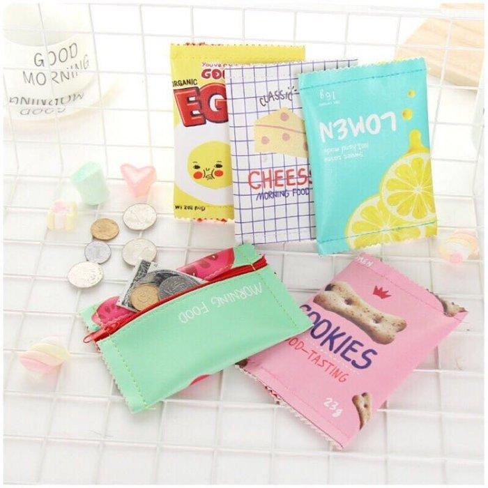 韓國創意吃貨零食錢包 零錢包 秋刀魚 草莓 甜甜圈 多可選