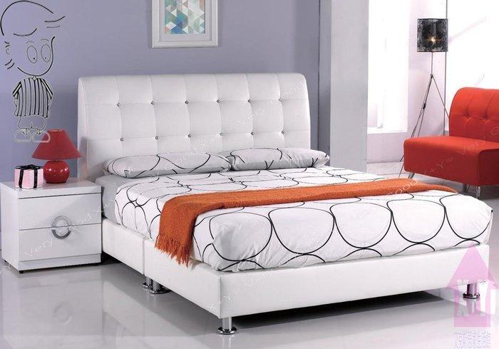 【X+Y時尚精品傢俱】現代雙人床組系列-雪莉 5尺白皮雙人床頭片.不含床架及床頭櫃.台疆透氣皮革.摩登家具