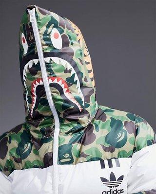 BAPE x adidas Down Jacket 綠迷彩 現貨M一件 賣完就沒了