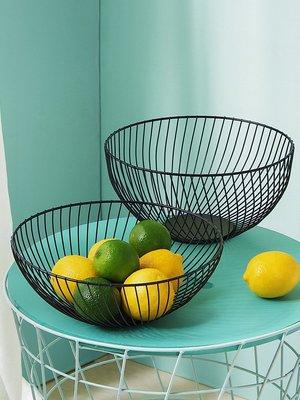 吖吖雜貨店*鐵藝鏤空水果盤創意歐式簡約零食收納籃家用客廳茶幾水果籃優惠推薦