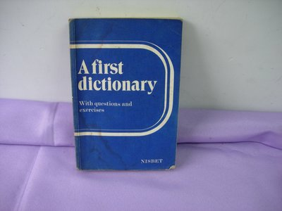 A first dictionary with questions and exercises  NISBET