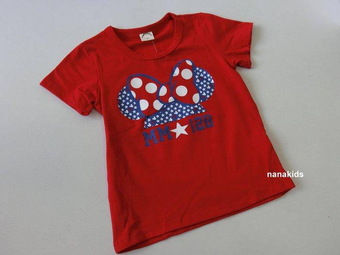 出清夏日款。女童裝。韓版可愛米妮T恤 短袖T恤  (紅色)  (5-19號)現貨~nanakids娜娜童櫥