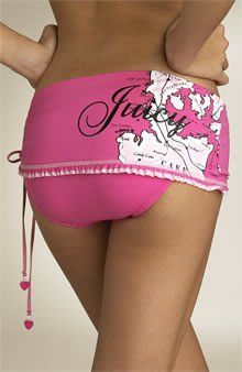 Juicy Couture Beach Couture Island Side Tie Bikini 柔美粉紅愛心吊飾比基尼(美金181)送紙袋