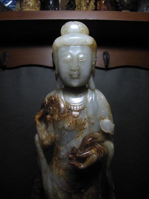 老和闐玉雕◎ 如意觀音 非壽山石 重3.1公斤