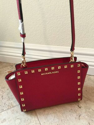 Michael Kors Selma MD Studded Messenger