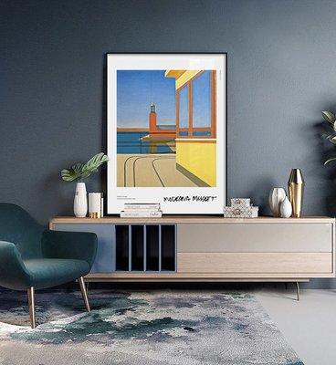 Torsten Jovinge抽象色彩建築當代藝術海報斯德哥爾摩美術館海報