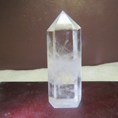 【優質家】精選漂亮巴西純天然3A清料白水晶柱138公克(AF07)(網路便宜價、限量一標)原價700元