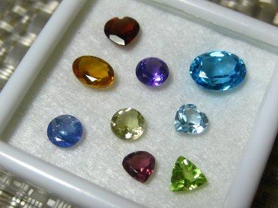 【Texture & Nobleness 低調與奢華】花漾寶石組 精選九款寶石 盒子長寬40*40mm