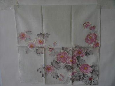 棉麻水墨畫手巾1