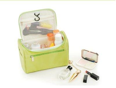 便攜化妝包大容量多功能收納袋韓國簡約小號旅行隨身洗漱品包手提 手拎包加厚海綿出差立體洗漱包
