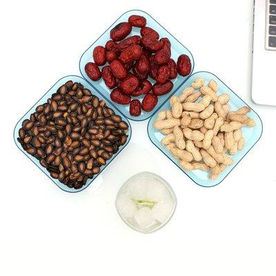 果盤家用創意透明小果盤多功能加厚干果盒糖果盒客廳糖果盤水果盤