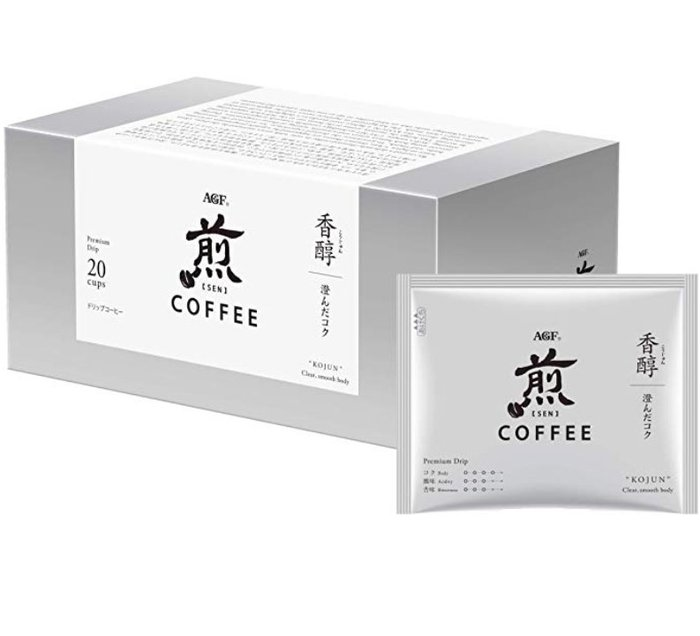 《FOS》日本 AGF 煎 香醇 黑咖啡 無糖 (20包) 濾掛式 手沖 頂級 淺焙 耳掛式 濾泡式 團購 下午茶 新款
