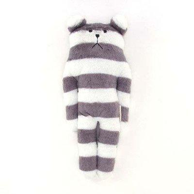 尼德斯Nydus~* 日本正版CRAFTHOLIC 宇宙人 抱枕 S size 灰白條紋熊 長41cm
