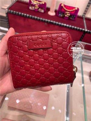 英國連線 代購 全新正品 GUCCI 449395 Guccissima 壓紋 MICRO GG 經典款6卡式零錢袋短夾
