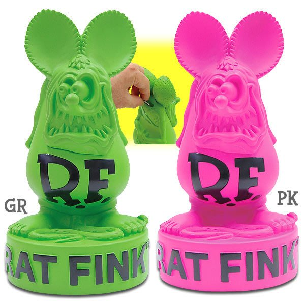 (I LOVE樂多)2012新品RAT FINK RF存錢桶.儲蓄桶