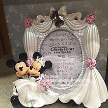 Miss莎卡娜代購【上海迪士尼正品】米奇 米妮 西式婚紗 結婚喜慶 立體公仔造型相框擺飾 (預購)