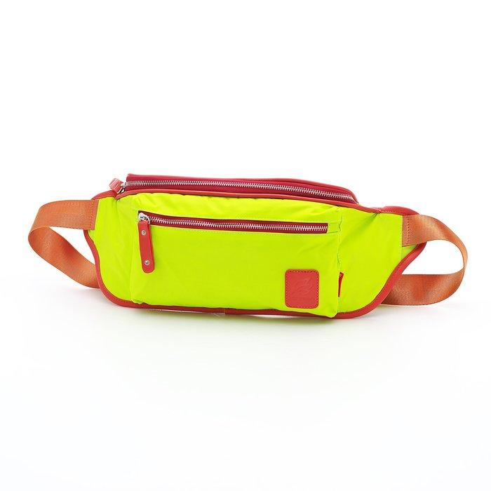 ◎BagTown◎驚艷街頭風格【PORTMAN】時尚繽紛尼龍腰包(螢光綠) PM142125