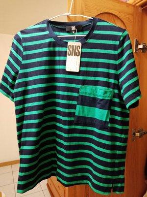 single Noble條紋t shirt