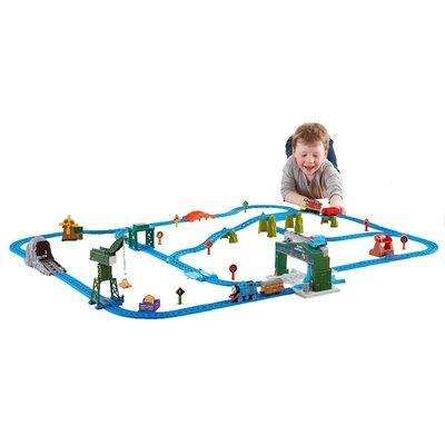 積木城堡 迷你廚房 早教益智托馬斯小火車電動系列之百靈頓碼頭多玩法軌道套裝玩具DHC80