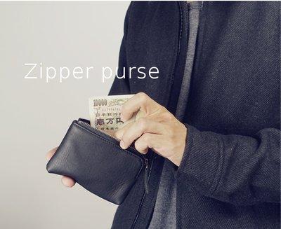 Myplace.com 簡約零錢包 / 真皮【Zip Purse】