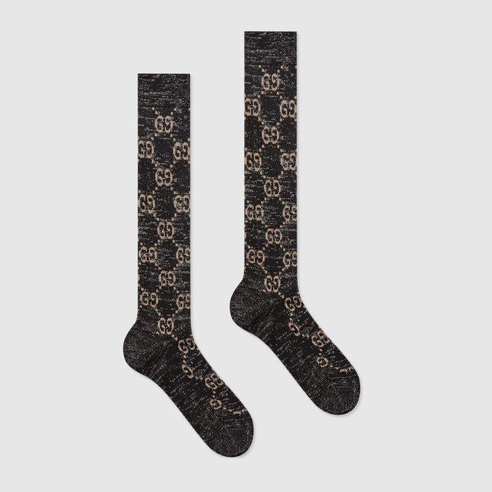 【代購】Gucci GG logo  長襪 四色