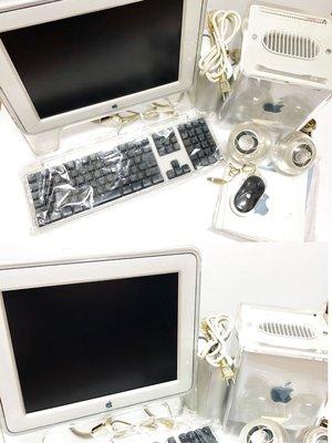 蘋果電腦 Apple PowerMac G4 Cube M7886 主機(日規版本)、15吋螢幕套組 收藏美品