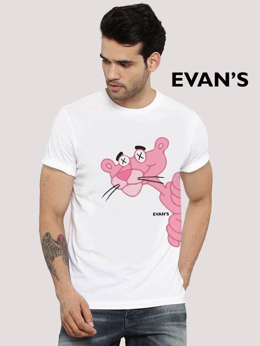 EVAN'S 設計款 - 頑皮豹 T恤 ( 白 / 灰 / 藍 )