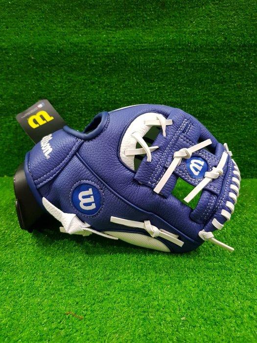 威勝 用品  Wilson 兒童棒球手套 多倫多藍鳥 A200 WTA02RB16TOR