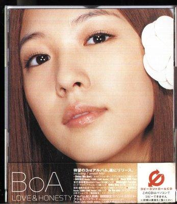 K - BoA - LOVE & HONESTY - 日版 CD+DVD - NEW - 初回限定