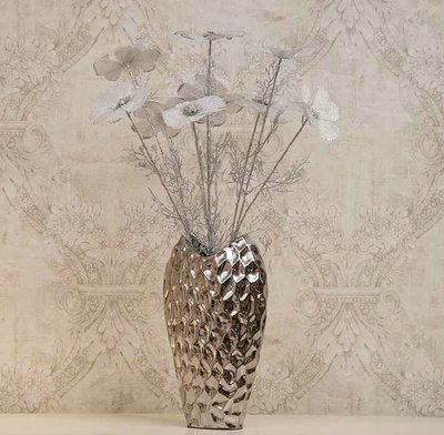 INPHIC-蜂巢  鍍銀花瓶 創意陶瓷落地花瓶仿真花 裝飾品花器 家居飾品