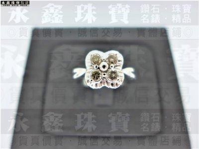 天然鑽石戒指 4P共0.4ct H/SI1/車工完美 18K n0633-02