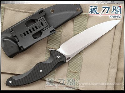 《藏刀閣》BROUS-(T5 Fixed Blade)D2鋼-T5戰術直刀(石洗刃)