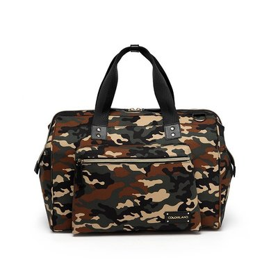媽媽包 媽咪包 肩背包 【MA0057】歐美Colorland大開口媽媽包 機能多收納斜背包 爸爸包