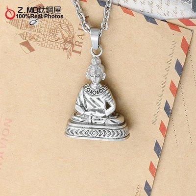 [Z-MO鈦鋼屋] 西藏宗教神明項鍊,西德白鋼抗過敏不生鏽,菩薩送禮有保佑【ANS173】