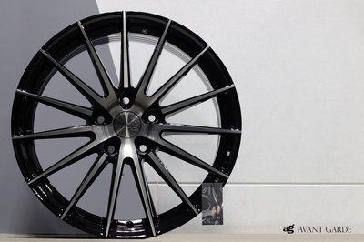 CR輪業 正美國 AG M615 18吋 旋壓輕量化鋁圈  5/108 5/112 5/114 黑底車面