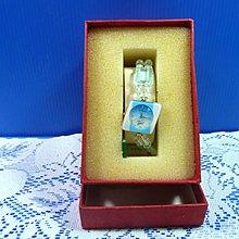 【水晶錶】全新絕版 鱷魚錶 (菱天藍框藍面) 水晶錶帶手圍可調整 附盒 尺寸:9*3.5*2.5㎝ 重量:90g
