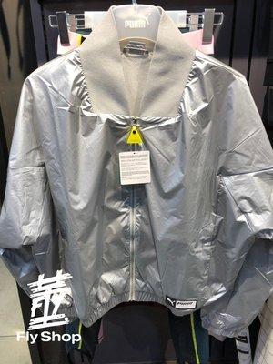 [飛董] PUMA 流行系列 TRAILBLAZER 短版 立領外套 太空 女裝 578039-02 銀色