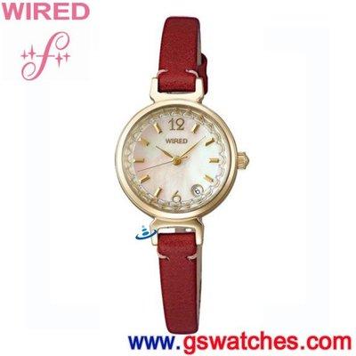 【金響鐘錶】全新WIRED f AM4032X1, 公司貨, 保固1年, 時尚女錶, 日期顯示, 7N82-X011W 台北市