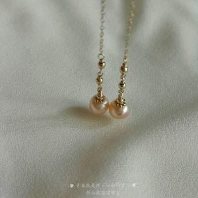 【天然◎淡水珍珠耳環】進口美國專利 14K注金  K金耳環 珍珠耳環  贈保養布 禮盒