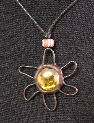 豬豬姨敖屋~手工製作~1:橙海星玻璃項鍊~2:淡藍玻璃海星~3:紅色項鍊~玻璃項鍊~