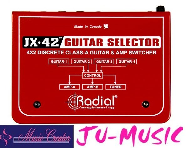 造韻樂器音響- JU-MUSIC - Radial JX-42 體積較小 強大的控制  『公司貨,免運費』