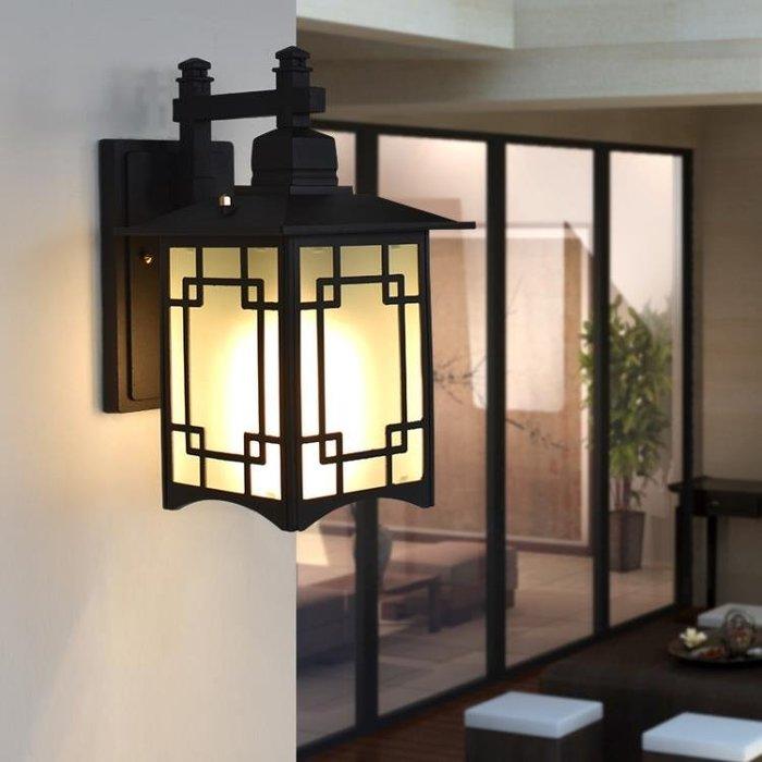 戶外壁燈新中式室外防水led庭院走廊歐式陽台大門燈太陽能仿古燈