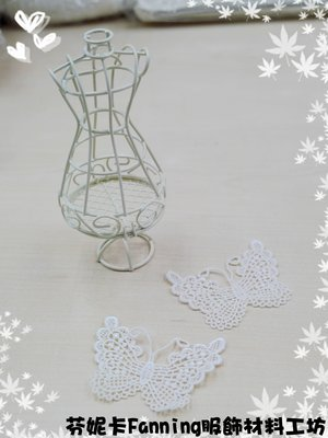 【芬妮卡Fanning服飾材料工坊】大隻蝴蝶花片 棉布蕾絲 刺繡花邊 DIY手工材料 1片入
